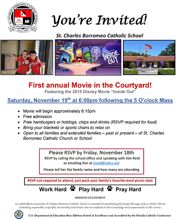 Movie in the Courtyard Flyer
