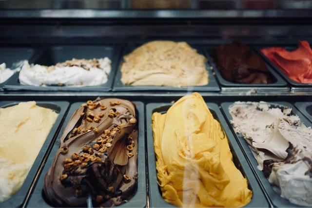 ice cream in bins