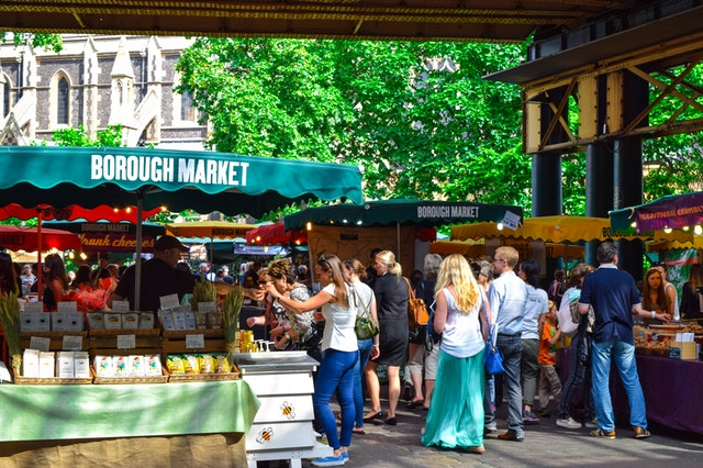 crowded outdoor market